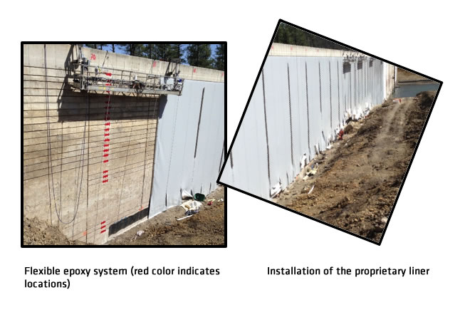 Dam Repair with Liner Termination Points