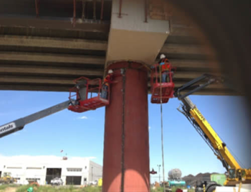 Steel Jacket Application on Concrete Bridge Columns