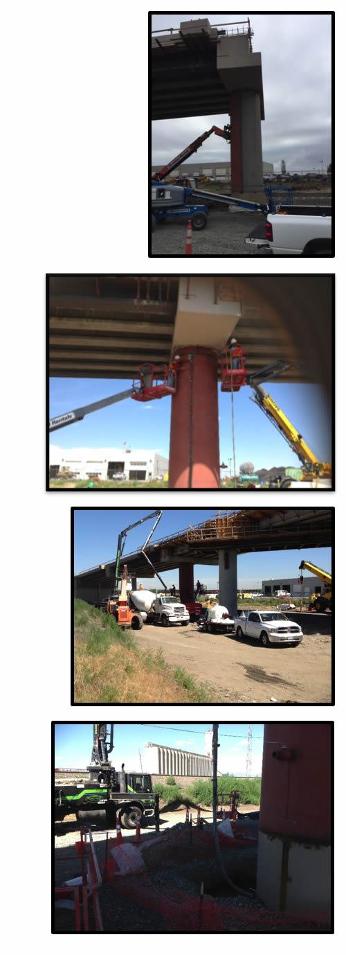 Steel Jacket Application on Concrete Bridge Columns