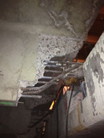 Damaged Concrete Garage Ceiling
