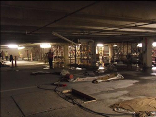 Workers Repairing garage