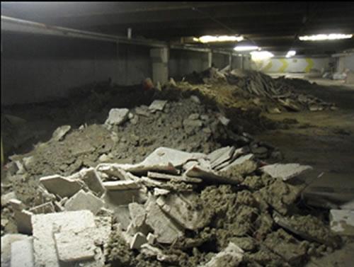 Concrete Garage Debris