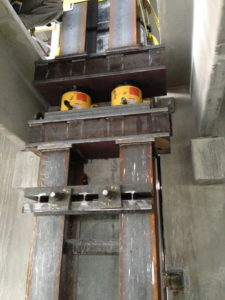 hydraulic shoring and jacking scheme