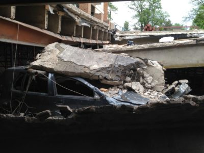Collapsed Parking Garage